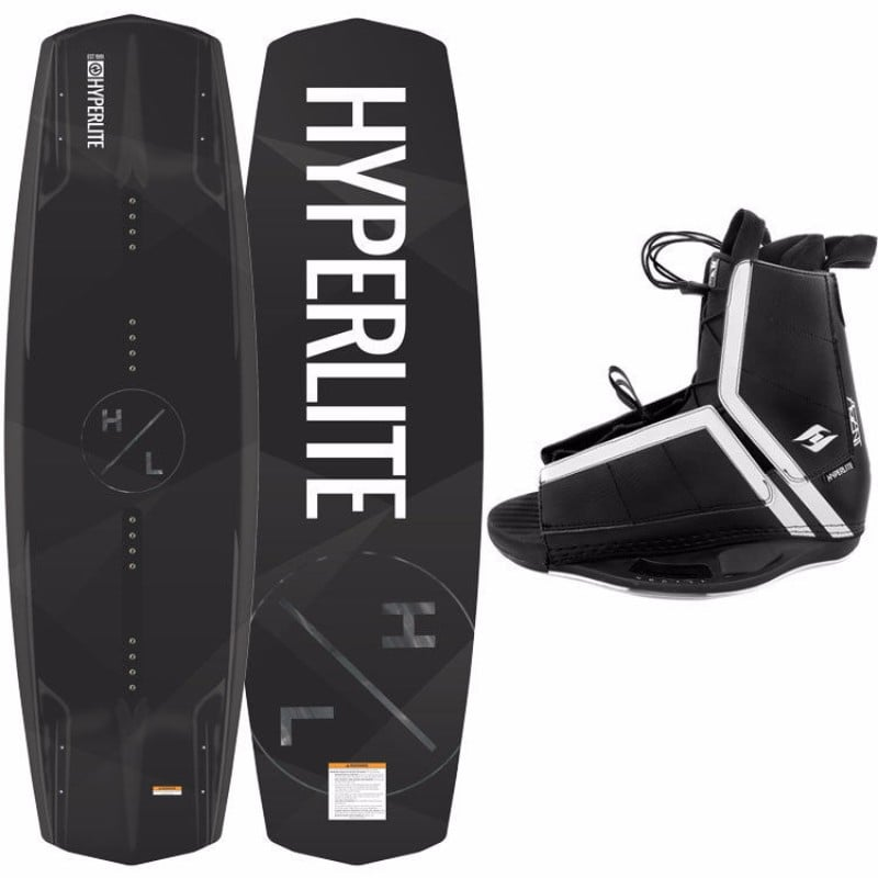 Hyperlite 2017 Destroyer Wakeboard with Agent Wakeboard Bindings